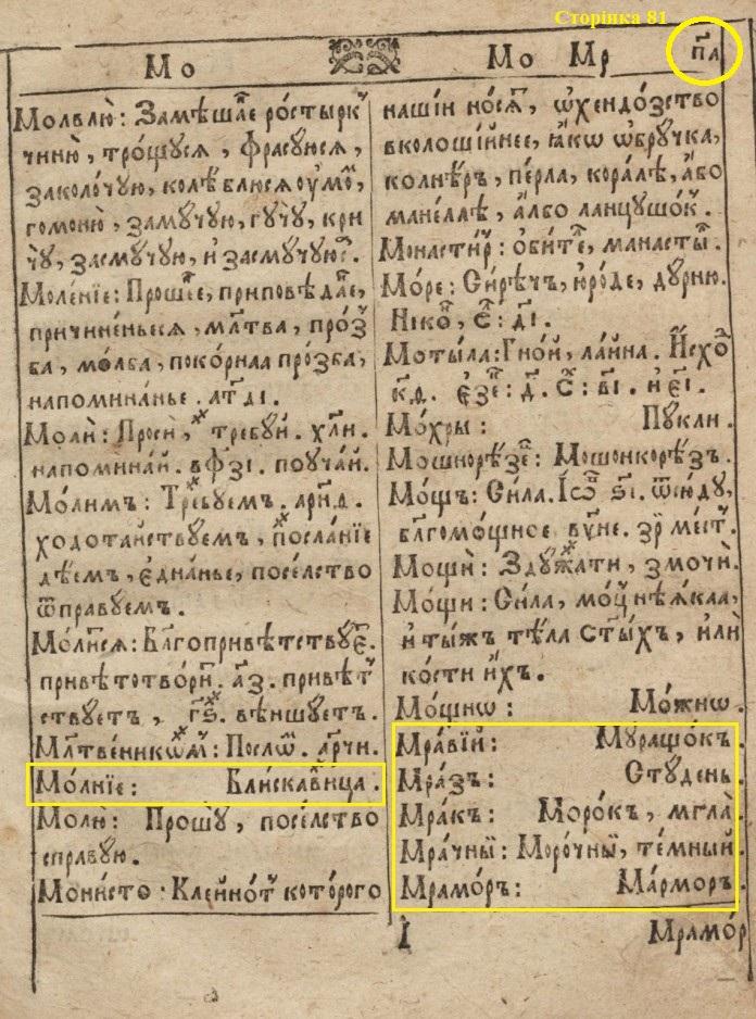 "П.Беринда ""Лексикон..."" (2-ге виднання, 1653)"
