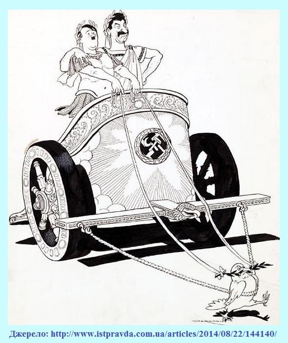 Натомість західна преса вже у 1939 році рясніла красномовними карикатурами